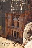 Petra's treasury. The 'treasury' at Petra, Jordan, which is actually part of a vast Nabataean necropolis Stock Image
