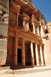 Petra's Tresure. Ancient temple of Petra, Jordan Royalty Free Stock Photo
