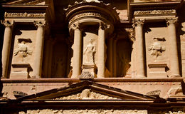 Petra's Tresure. Part of the Ancient temple of Petra, Jordan Royalty Free Stock Photo