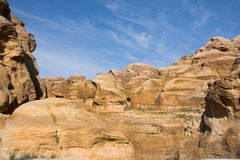 Petra Sandstone Formations Stock Photography