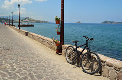 Petra Seafront Lesvos Royalty Free Stock Photos