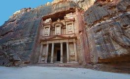 Petra skarbiec, Jordanowska podróż, Środkowy Wschód zdjęcia stock