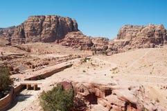 Petra som är arkeologisk parkerar, Jordanien, Mellanösten Arkivfoton