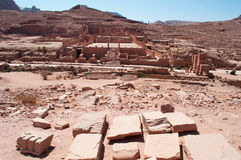 Petra som är arkeologisk parkerar, Jordanien, Mellanösten Arkivbild