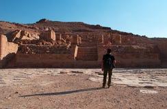 Petra som är arkeologisk parkerar, Jordanien, Mellanösten Royaltyfria Bilder