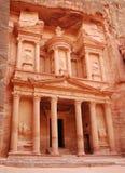 petra-tempel Royaltyfri Fotografi