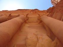 Petra tempel Royalty-vrije Stock Foto's