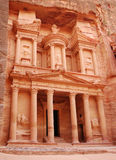 Petra temple. View of ancient temple in Petra Royalty Free Stock Photography