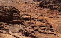 Petra Theater, Jordanië royalty-vrije stock afbeeldingen