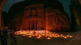 Petra Time Lapse. V4 Night time lapse of ancient Petra site. 4/14 stock video footage