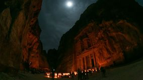 Petra Time Lapse. V3 Night time lapse of ancient Petra site. 4/14 stock video