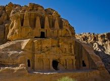 Petra tomb. The obelisk tomb in Petra-Jordan Stock Images