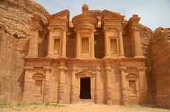 Petra Tomb. A view of the second and the biggest tomb in Petra site Stock Photo