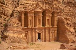 Petra Tomb. A view of the second and the biggest tomb in Petra site Stock Image