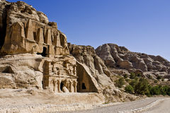 Petra Tombs Royalty Free Stock Photography