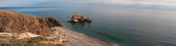 Petra tou Romiou. Royalty Free Stock Photography