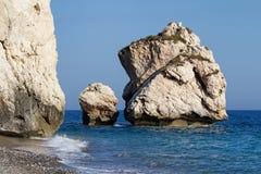 Petra Tou Romiou, Aphrodite's Birthplace, Cyprus Royalty Free Stock Photo