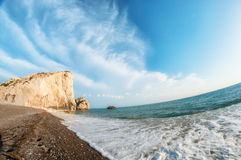 Petra tou Romiou, Aphrodite's birthplace. Paphos, Cyprus Stock Photo