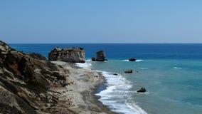 Petra Tou Romiou Aphrodite's Rock Cyprus Royalty Free Stock Image