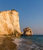 Petra tou Romiou or Aphrodite's Rock, Cyprus Stock Photography