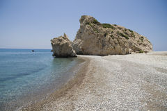 Petra Tou Romiou, beach on Cyprus Stock Photography