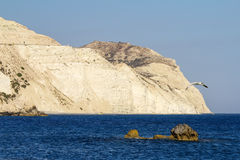 Petra Tou Romiou Coastline, Cyprus Stock Photos