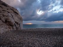 Petra tou romiou, legendary birthplace of godess aphrodite in cyprus Stock Photos