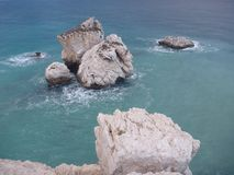 Petra tou romiou, legendary birthplace of godess aphrodite in cyprus Stock Photo