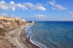 Petra Tou Romiu panorama Royalty Free Stock Images