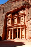 Petra, The Treasury. Petra, UNESCO world heritage site and one of The New 7 Wonders of the World Stock Images