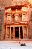 Petra, The Treasury. UNESCO world heritage site and one of The New 7 Wonders of the World Royalty Free Stock Photos