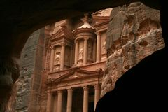 Petra the Treasury. I shot this Picture on a trip in winter during my holiday Stock Photography
