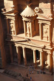 Petra Treasury from above with people royalty free stock photography