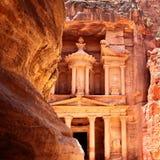 Petra. Treasury in Petra (Al Khazneh), Jordan Stock Photography