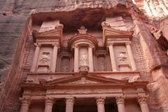 Petra Treasury Facade Royalty Free Stock Images
