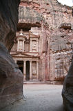 Petra treasury, Jordan Royalty Free Stock Photography