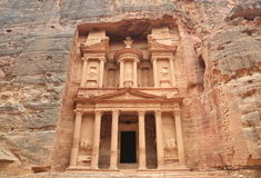 Petra Treasury in Jordan  Stock Photos