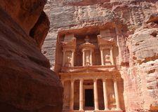 Petra Treasury, Jordanie Photos stock