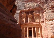 Petra Treasury, Jordanien stockfotos