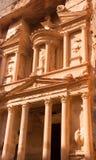 Petra Treasury von der Seite stockfoto