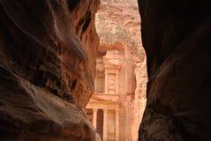 Petra - Tubo principal Foto de archivo libre de regalías