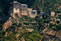 Petra van Simonos klooster, Mt. Athos, Griekenland royalty-vrije stock foto's