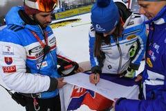 Petra Vlhova de los recuerdos de firma de Eslovaquia durante el eslalom gigante de Audi FIS el Ski World Cup Women alpino fotografía de archivo