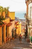 Petraio老台阶在那不勒斯 免版税库存照片