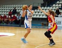 A Petrakova (31) contra K Esquisito (15) Imagens de Stock