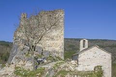 Petrapilosa的城堡 免版税库存图片
