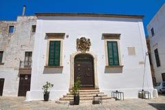 Petrarolo palace. Ostuni. Puglia. Italy. Royalty Free Stock Images