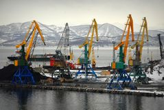 Petravlosk-Kamchatsky - Océano Pacífico imagen de archivo libre de regalías