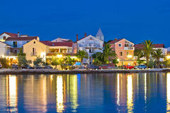 Petrcane adriatic village colorful evening waterfront Stock Photo