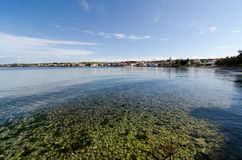 Petrcane, Dalmatia. Petrcane: a 900 years-old beautiful small fisherman's village, 10 km northwest of Zadar Royalty Free Stock Images